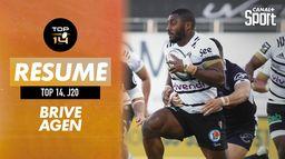 Le résumé (court) de Brive / Agen : Canal Rugby Club
