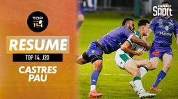 Le résumé (court) de Castres / Pau : Canal Rugby Club