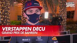 La déception de Max Verstappen : Grand Prix de Bahreïn