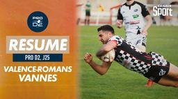 Le résumé de Valence-Romans / Vannes : PRO D2