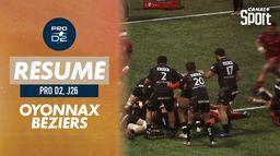 Le résumé de Oyonnax / Béziers - ProD2 (J26) : ProD2