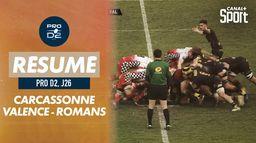 Le résumé de Carcassonne / Valence-Romans - Pro D2 (J26) : Pro D2