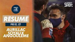 Le résumé d'Aurillac / Soyaux-Angoulème : Pro D2 - 27ème journée
