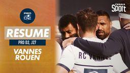 Le résumé de Vannes / Rouen : Pro D2 - 27ème journée