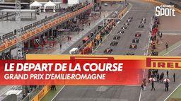 Le départ chaotique de la course : Grand Prix d'Emilie Romagne