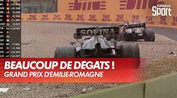 Énorme crash entre Bottas et Russell, drapeau rouge : Grand Prix d'Emilie Romagne