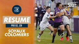 Le résumé de Soyaux-Angoulême / Colomiers : PRO D2