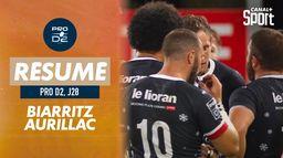 Le résumé de Biarritz / Aurillac : PRO D2
