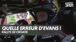 Un enchaînement qui coûte la victoire à Evans : Rallye de Croatie