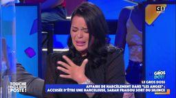 """Sarah Fraisou se confie en larmes dans TPMP sur les accusations de violences dans """"Les Anges"""""""