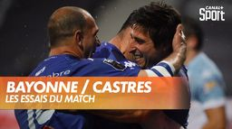 Les essais de Bayonne / Castres : Top 14