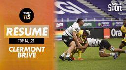 Le résumé de Clermont / Brive : TOP 14 - J21
