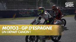 Le départ canon de la course Moto 3 ! : Grand Prix de Valence