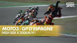 La chute effrayante de Gabriel Rodrigo ! : Grand Prix de Valence