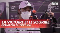 Le sourire de Lewis après sa victoire : Grand Prix du Portugal