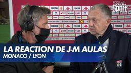 """Jean-Michel Aulas : """"Les gars ont été magnifiques"""" : Monaco / Lyon"""