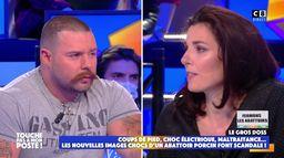 Solveig Halloin, activiste pour la protection animale face à Baptiste Marchais, viandard