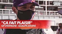 La réaction d'Ocon après se 5ème place en qualifications : Grand Prix d'Espagne