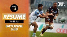 Le résumé de Bayonne / Bordeaux-Bègles : TOP 14