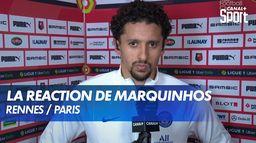 La déception de Marquinhos après Rennes / PSG : Ligue 1 Uber Eats
