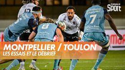 Les essais et le débrief de Montpellier / Toulon : TOP 14