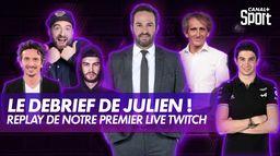 Notre lancement sur Twitch avec Julien Fébreau et sa bande ! : Grand Prix d'Espagne