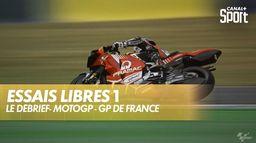 Les images et le débrief de la première séance d'essais libres : Grand prix de France