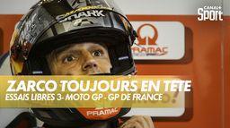Johann Zarco toujours en tête lors des troisièmes essais libres : Grand prix de France