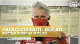 Paolo Ciabatti, directeur sportif de Ducati s'est livré au micro de Canal+ : Grand prix de France
