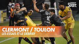 Les essais et le débrief de Clermont / Toulon : TOP 14
