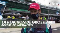 La réaction de Romain Grosjean après sa 2ème place : Indycar - GP d'Indianapolis