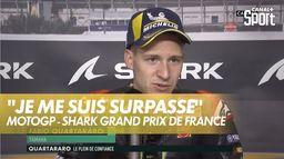 """Quartararo : """"Je me suis surpassé aujourd'hui sous la pluie"""" : SHARK Grand Prix de France"""