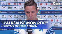 L'émotion de Florian Thauvin après son dernier match avec l'OM