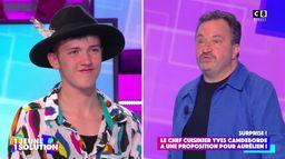 Le chef Yves Camdeborde propose un job à Aurélien, étudiant dans la précarité