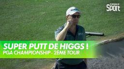 Harry Higgs régale avec ce putt ! : PGA Championship 2021 - Kiawah Island - 2ème tour