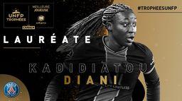 Kadidiatou Diani - Meilleure joueuse de D1 Arkema - Trophées UNFP 2021