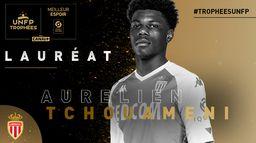 Aurélien Tchouaméni - Meilleur espoir de Ligue 1 Uber Eats : Trophées UNFP 2021