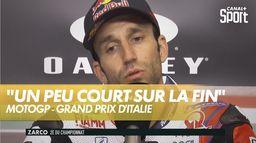 Zarco un peu dépité : Grand Prix d'Italie