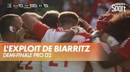 L'essai à la dernière minute de Biarritz qui se qualifie pour la finale - Pro D2 : Rugby