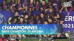 Le PSG soulève la coupe de Championnes de France