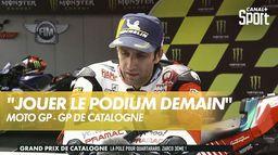 """Johann Zarco : """"Très content de ma qualif"""" : Grand Prix de Catalogne"""