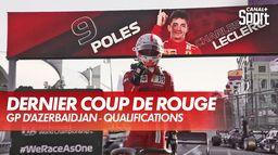 Leclerc poleman à Bakou après un 4e drapeau rouge !