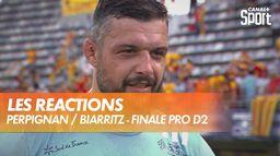 Les réactions après la finale PRO D2 : Finale PRO D2