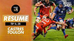 Le résumé de Castres / Toulon : TOP 14