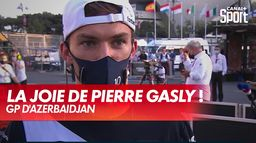 La joie de Pierre Gasly après son podium !