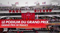 Le podium : Grand Prix de France