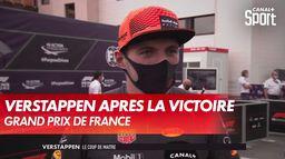 Verstappen se confie après sa victoire : Grand Prix de France