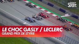L'accrochage entre Gasly et Leclerc en palette