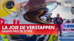 La joie de Verstappen après sa victoire