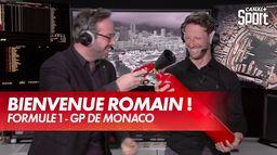 Julien Fébreau offre un extincteur à Romain Grosjean ! : Grand Prix de Monaco